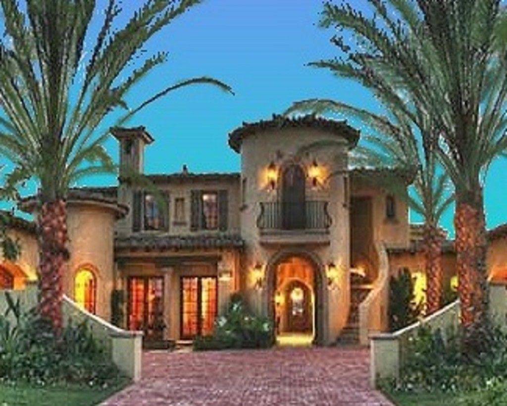 Mediterranean style house plan 4 beds 4 5 baths 6755 sq for Mediterranean elevation