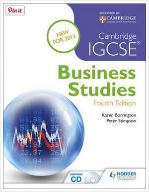 Cambridge IGCSE Business Studies  Borrington, Karen