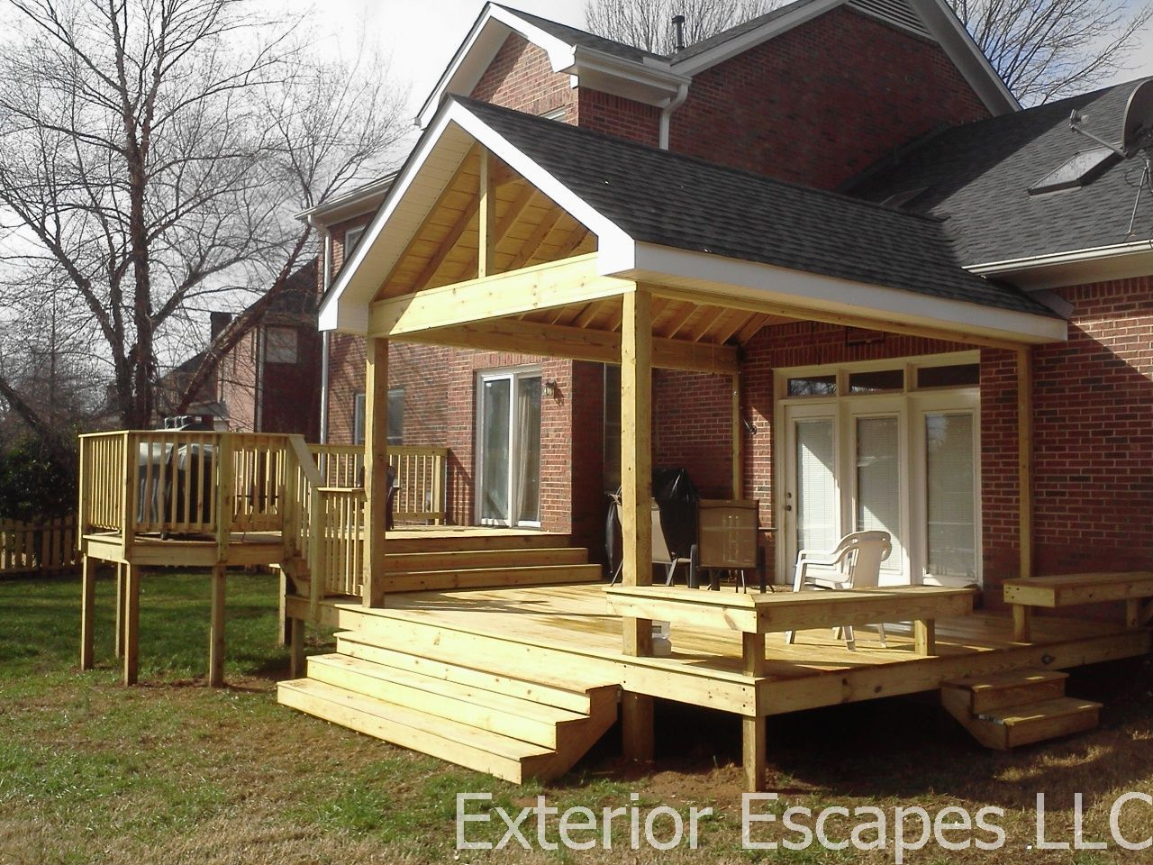 covered deck ideas want a covered deck or partially covered deck check out 11681