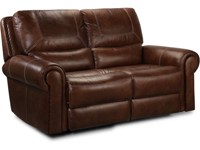 Fabulous St James Leather Power Reclining Loveseat Tobacco Home Squirreltailoven Fun Painted Chair Ideas Images Squirreltailovenorg