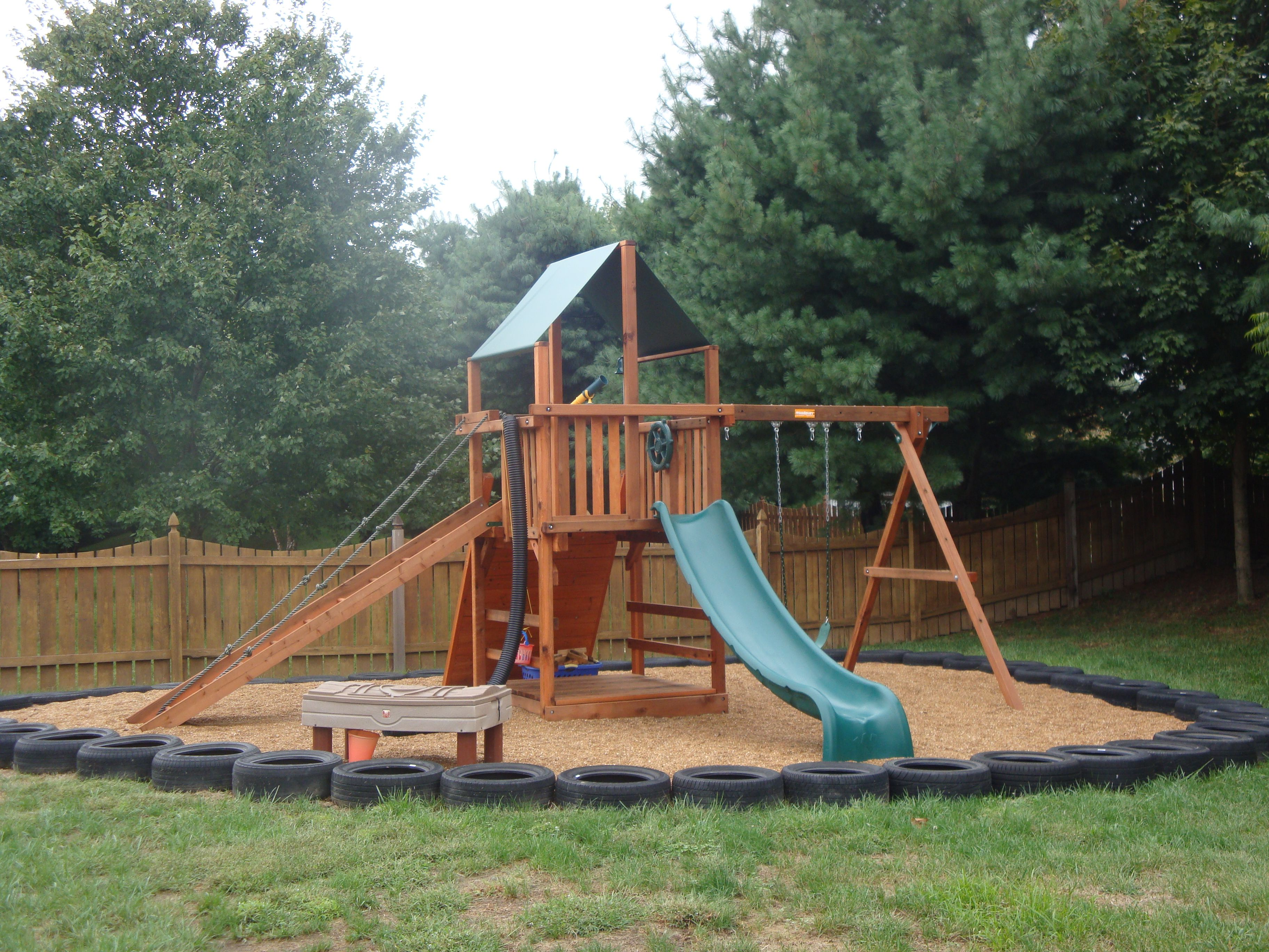 Recycled Tires For Border Fun For Preschoolers To Walk On Also Backyard Playset Outdoor Fun For Kids