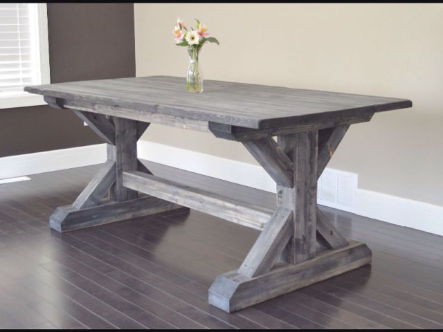 Trestle Dining Table Weathered Finish Onyx Walnut Available Dining Tables And S Wood Dining Room Table Farmhouse Dining Room Table Trestle Dining Tables