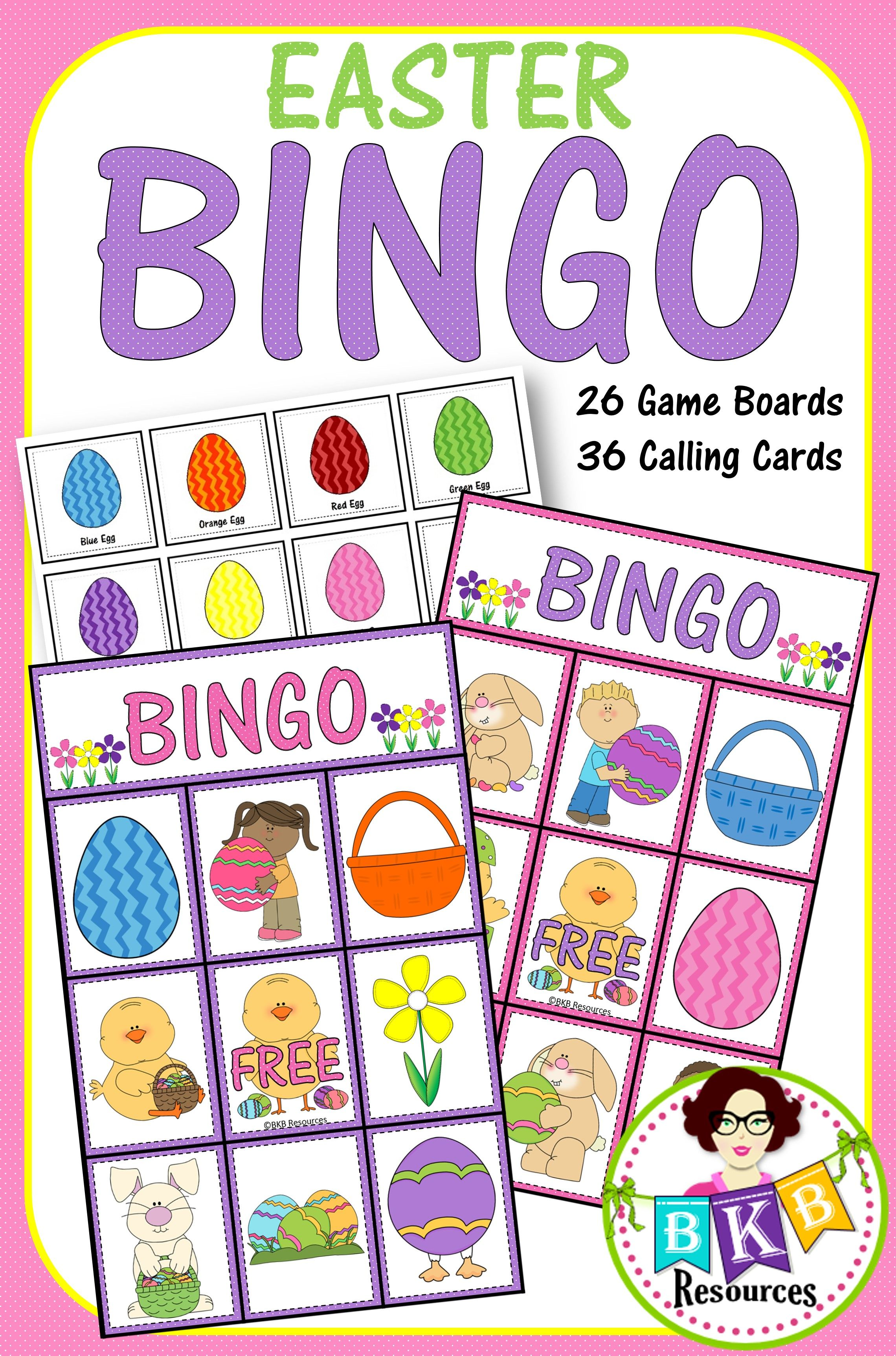 Bingo Easter Bingo This Set Includes 26 Game Boards And
