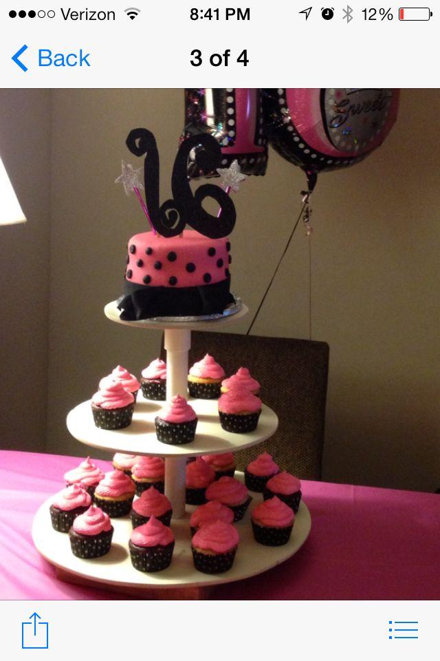 Simple Sweet Sixteen Cake Cakes Cupcakes Cookie