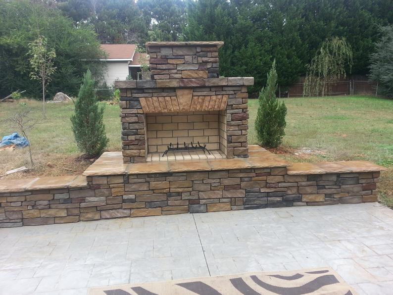 Pima Ii Diy Outdoor Fireplace Construction Plan In 2021 Diy Outdoor Fireplace Outdoor Fireplace Plans Outdoor Fireplace