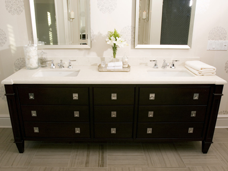 Tara Fingold Modern Black Bathroom Design With Black Bathroom Vanity Double