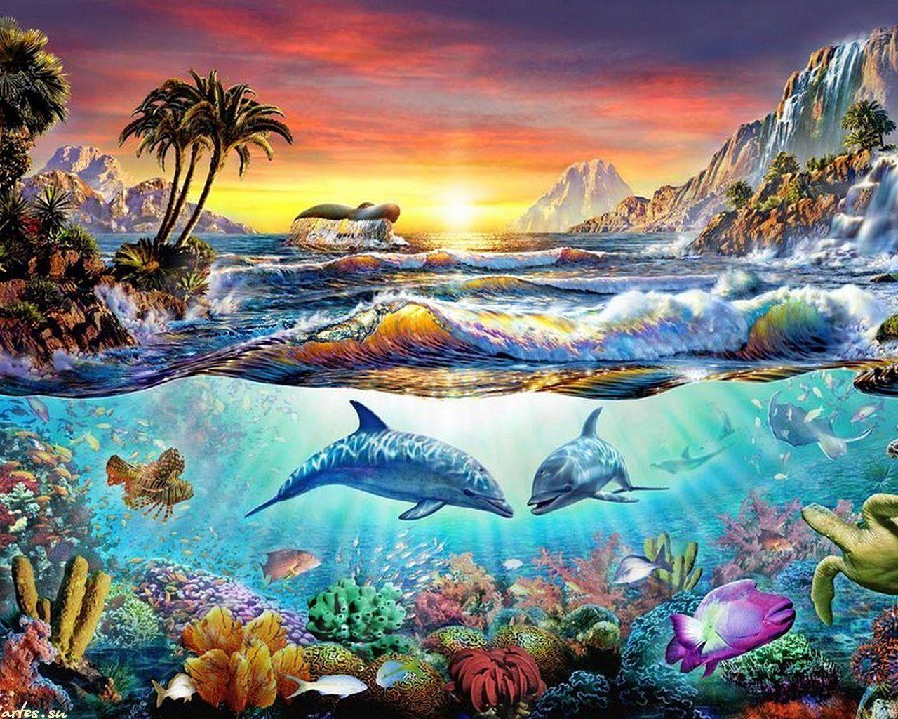 картинки для декупажа морские животные ней счастья вам