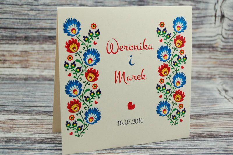 Zaproszenia Slubne Na Slub Folk Papier Eko Piekne 5819386782 Oficjalne Archiwum Allegro Wedding Invitations Invitations Wedding