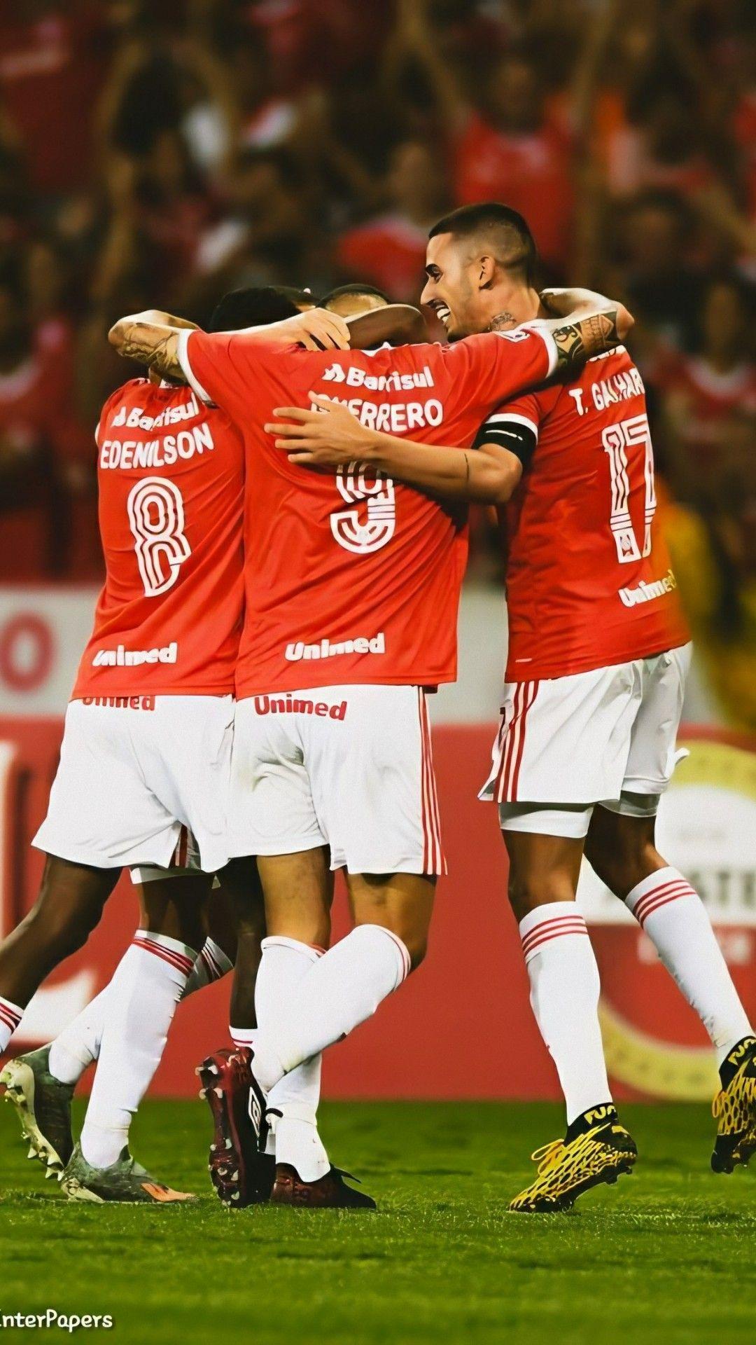 Jogadores Comemorando Internacional Futebol Clube Sport Clube Internacional Sport Clube