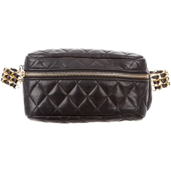 Pre Owned Chanel Vintage Quilted Lambskin Waist Bag 2 000 Liked On Polyvore Featuring Bags Black Chanel Bags Pre Vintage Chanel Chanel Bag Quilted Bag