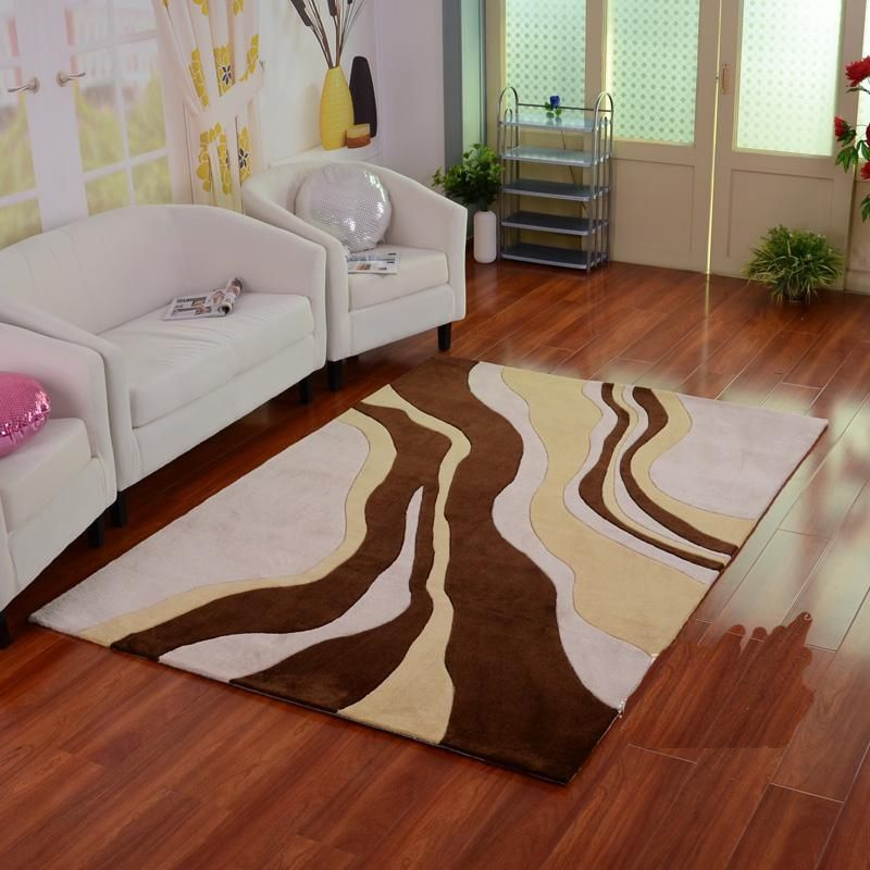 Abstract river print acrylic area rug with images rugs