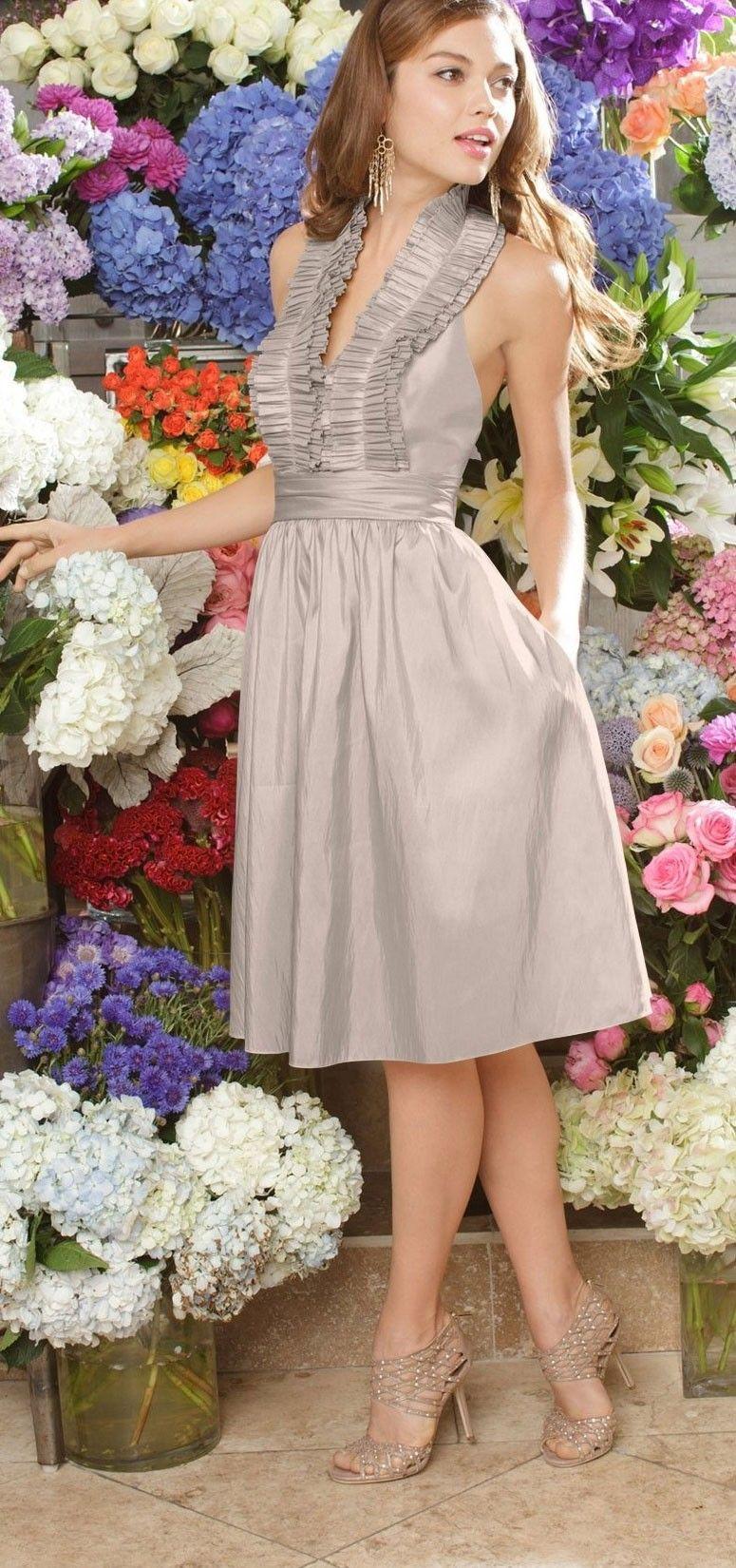 Ruffled collar fashion accents pinterest ruffle collar ruffled collar taffeta bridesmaid dressbridesmaid ombrellifo Gallery