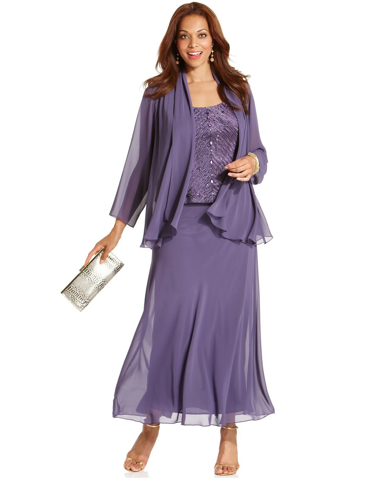 Mother of the bride dresses evening wedding  Patra Dress u Jacket Beaded Bodice  Stylinu  Pinterest  Bride