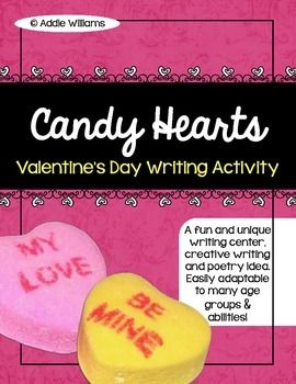 valentine 39 s day writing conversation candy heart activity activities school and language arts. Black Bedroom Furniture Sets. Home Design Ideas