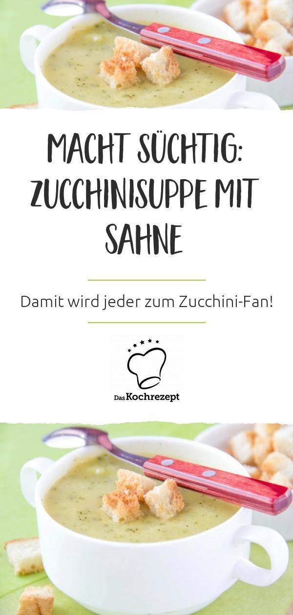 Zucchinisuppe mit Sahne #alcoholicpartydrinks