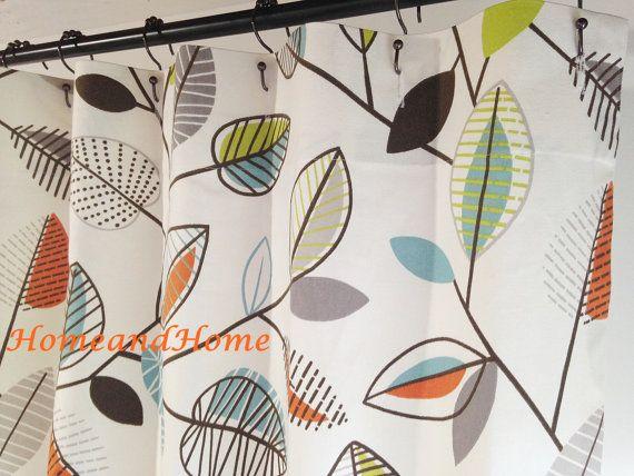 Custom Fabric Shower Curtain Designer Covington Carson Fiesta 72 X 84 72,  74, 78