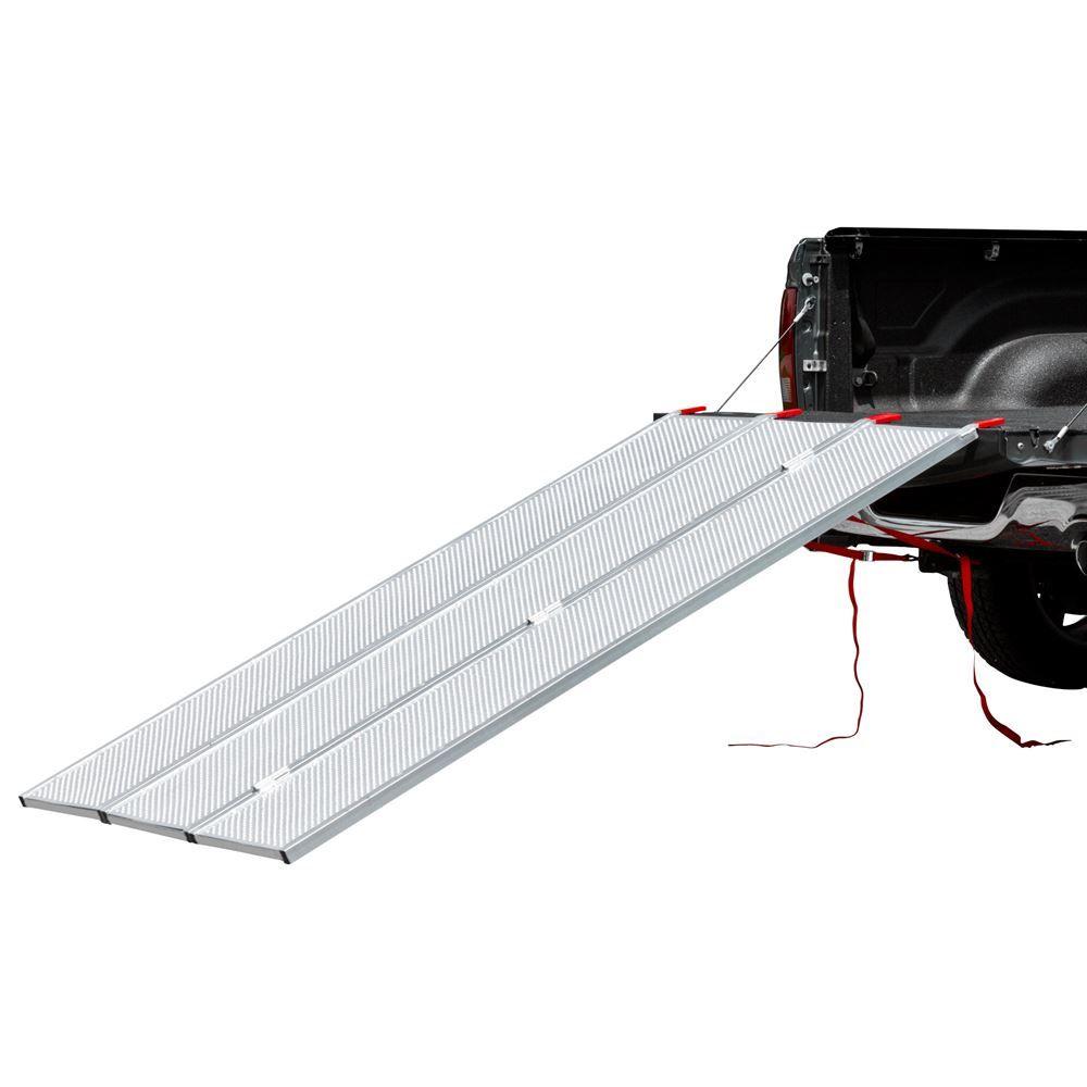 Aluminum Atv Ramps >> Black Widow Aluminum Extra Wide Punch Plate Tri Fold Atv