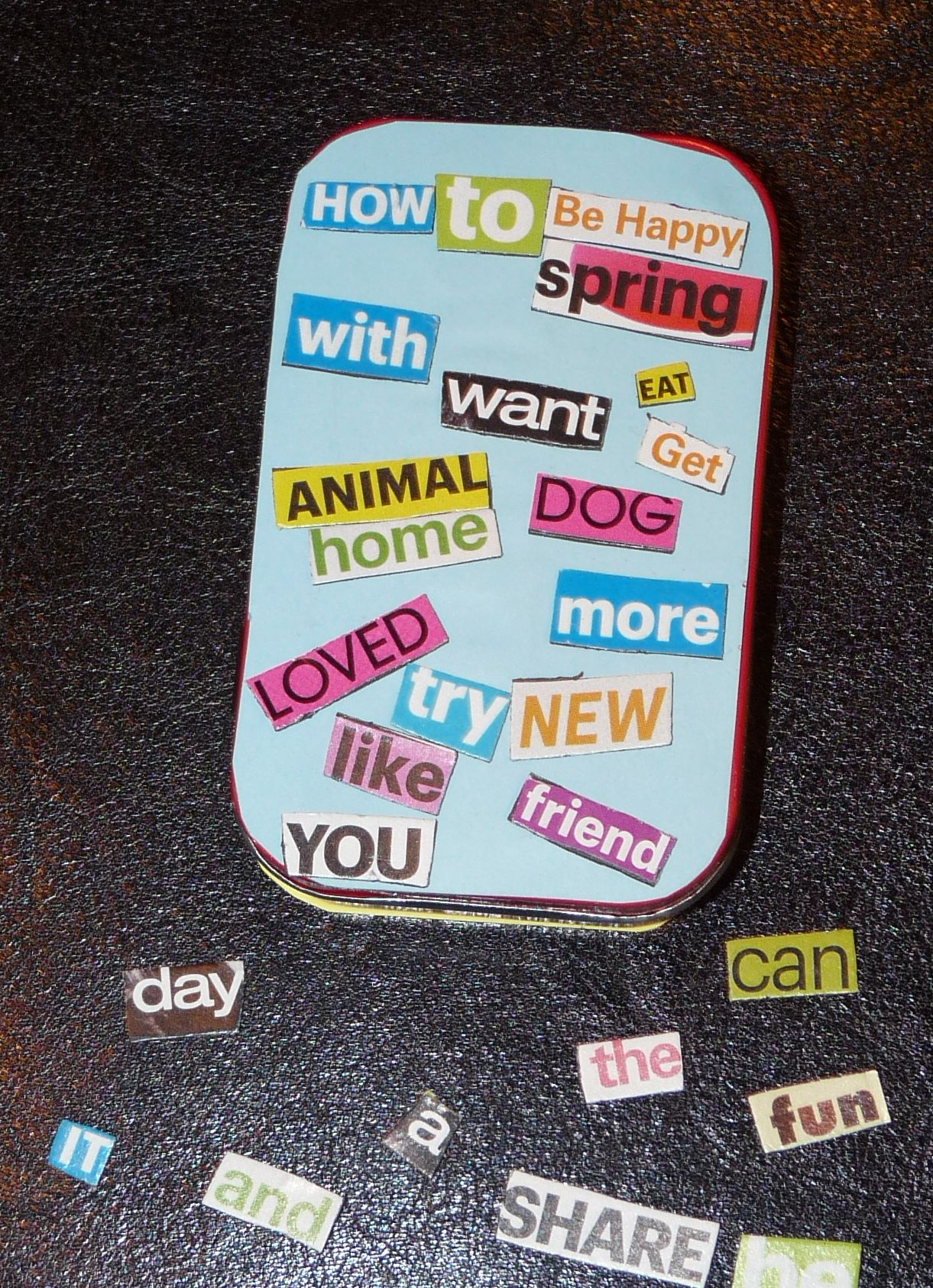 Diy Mini Activity And Tin From An Altoids Magnetic Poetry