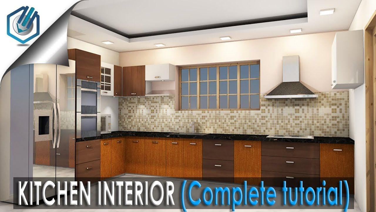 How To Make Kitchen Interior Complete Tutorial  Youtube Alluring 3D Design Kitchen Review