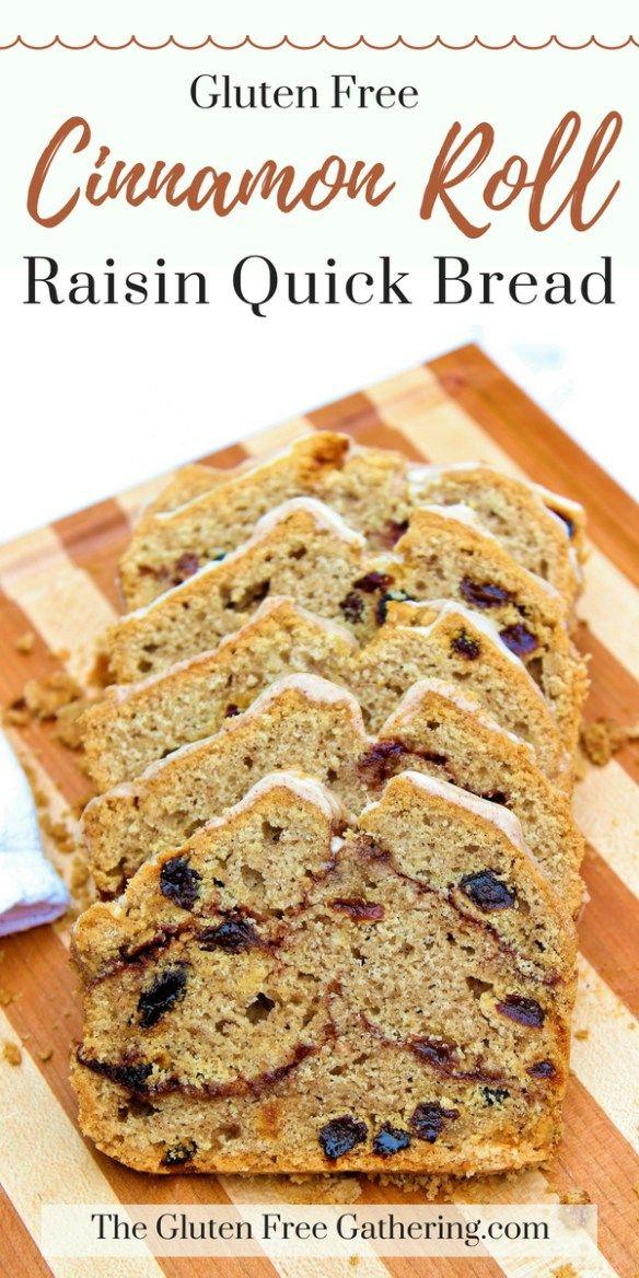 Gluten Free Cinnamon Roll Raisin Quick Bread