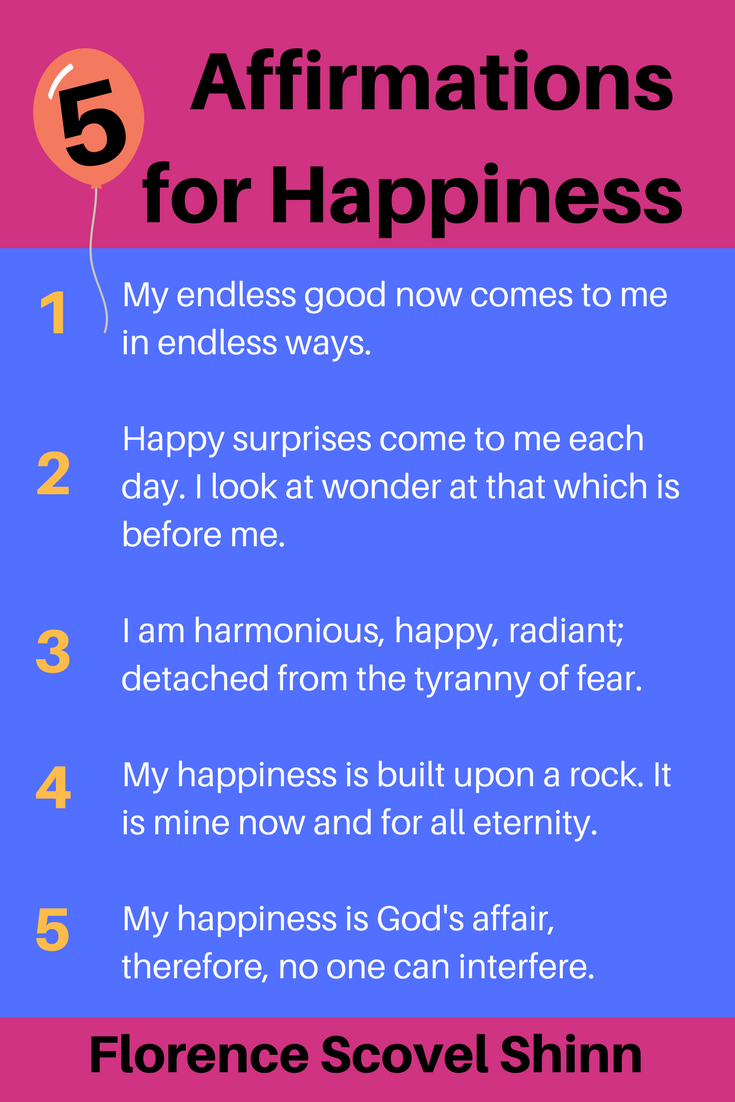 Affirmations and Florence Scovel Shinn Affirmations
