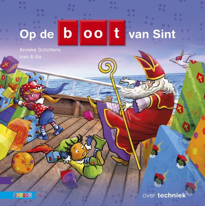 Een boek dat aansluit bij kleuters en er moet iets van techniek in zitten. Zwijsen krijgt het voor elkaar met het boek Op de boot van Sint.
