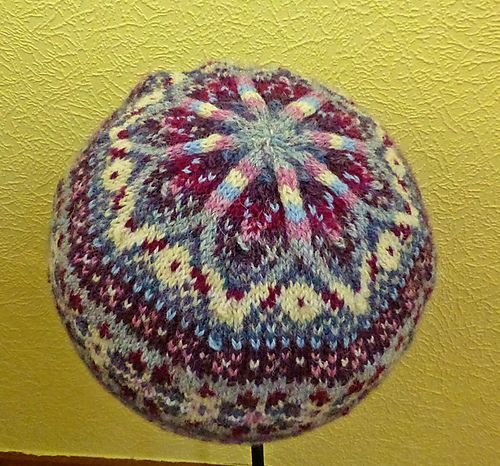 A beautiful, colourful Fair Isle Hat, knitted in the round and ...