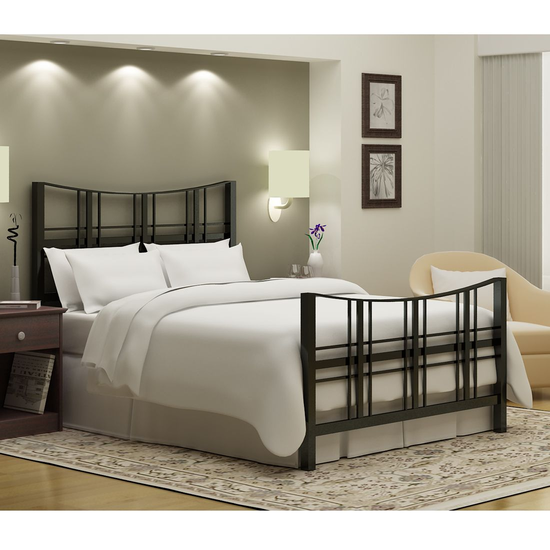 Add a stylish touch to your bedroom with this queen-size \'Stanford ...