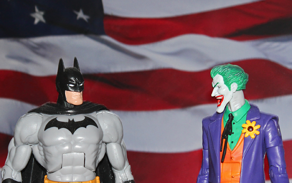 Not sure who is crazier, but I'm pretty sure Batman would win the debate.