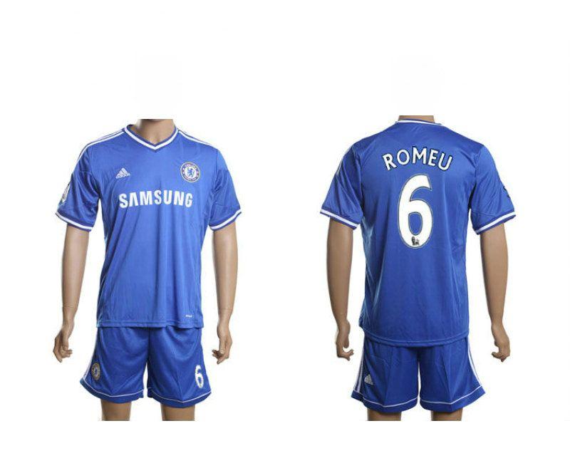6 Chelsea Domicile Romeu Foot 2014 Collection 2013 Maillot Adidas nUw0qTC