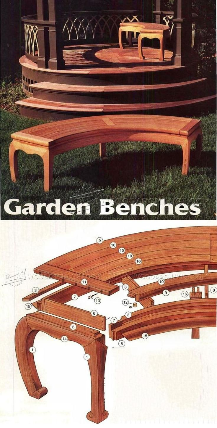 Asian Garden Bench Plans   Outdoor Furniture Plans U0026 Projects |  WoodArchivist.com