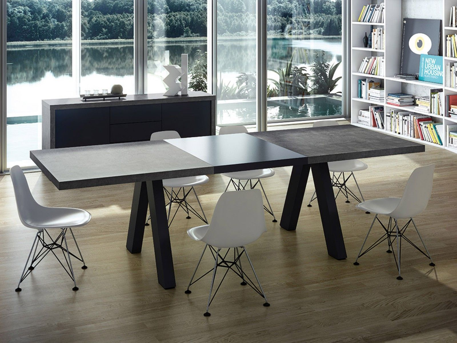 Apex Dining Table Concrete