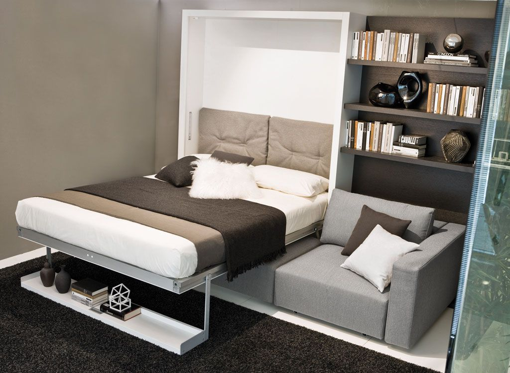The Swing Is A Self Standing Queen Size Murphy Bed With Sofa And Sliding Chaise Also Provides Additional Storage Under