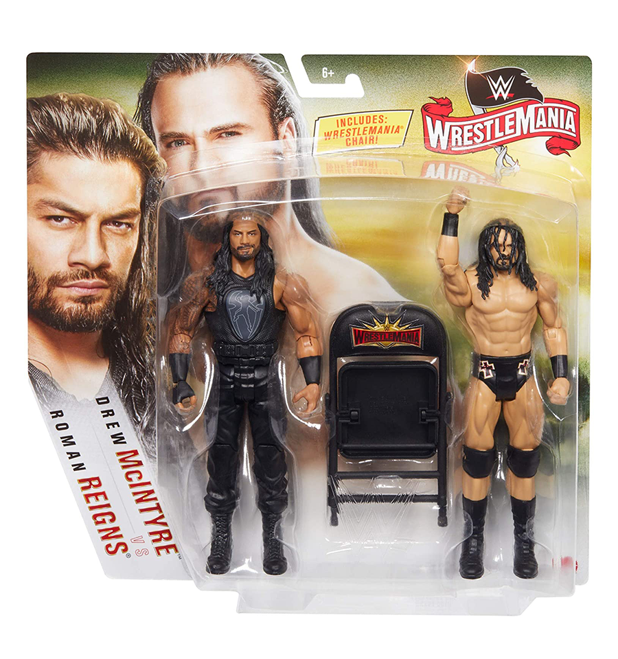 Wwe Wrestlemania Roman Reigns Drew Mcintyre Action Figures In 2020 Roman Reigns Wrestlemania Wwe