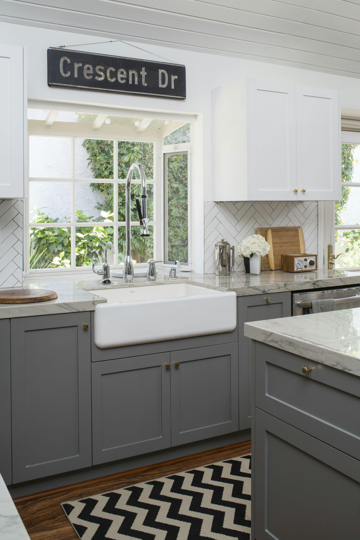 Graue Und Weiße Farbe Küche Küchen design