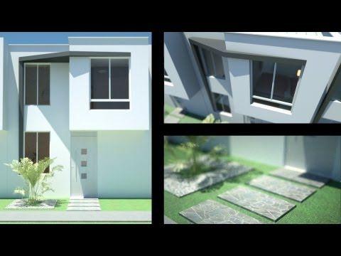 Planos casa moderna de 2 pisos m x m m for Casa moderna 7x15