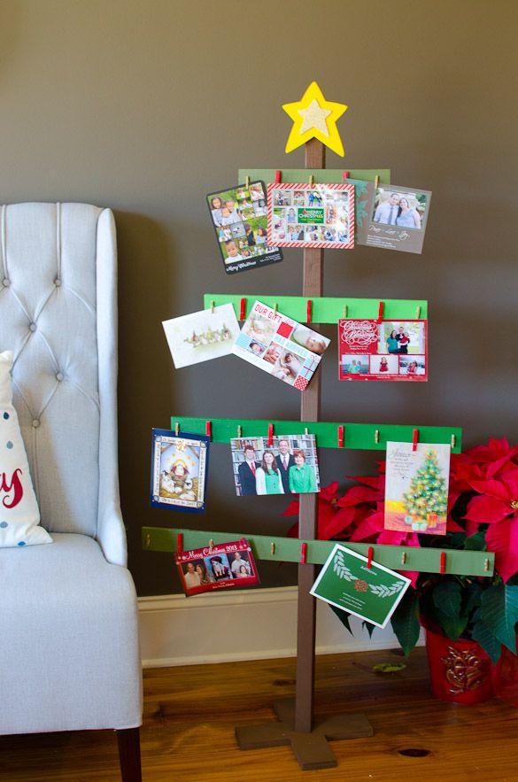 Holiday Home Tour A Peek Inside My Christmas House Christmas Tree Card Holder Christmas Tree Cards Christmas Inspiration