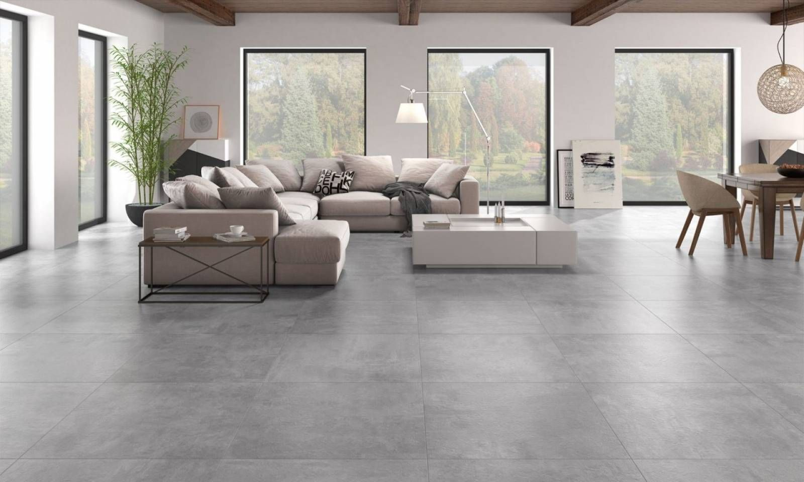 Salon Carrelage Gris Beton Recherche Google Modern Living Room Interior Tile Floor Living Room Living Room Interior