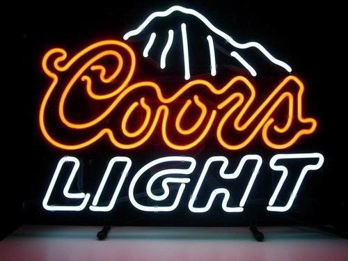 New coors light mountains beer real glass neon light bar pub sign new coors light mountains beer real glass neon light bar pub sign aloadofball Images