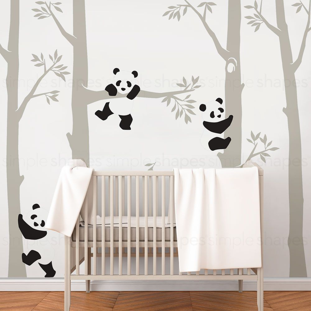 Trees with Pandas Wall Decal  Décoration chambre bébé, Chambre