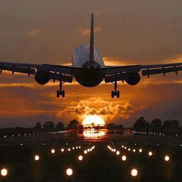 Take Off Into A Beautiful Sunset Plane Photography Airplane