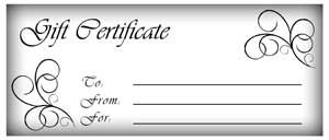 Create Your Own Gift Certificates