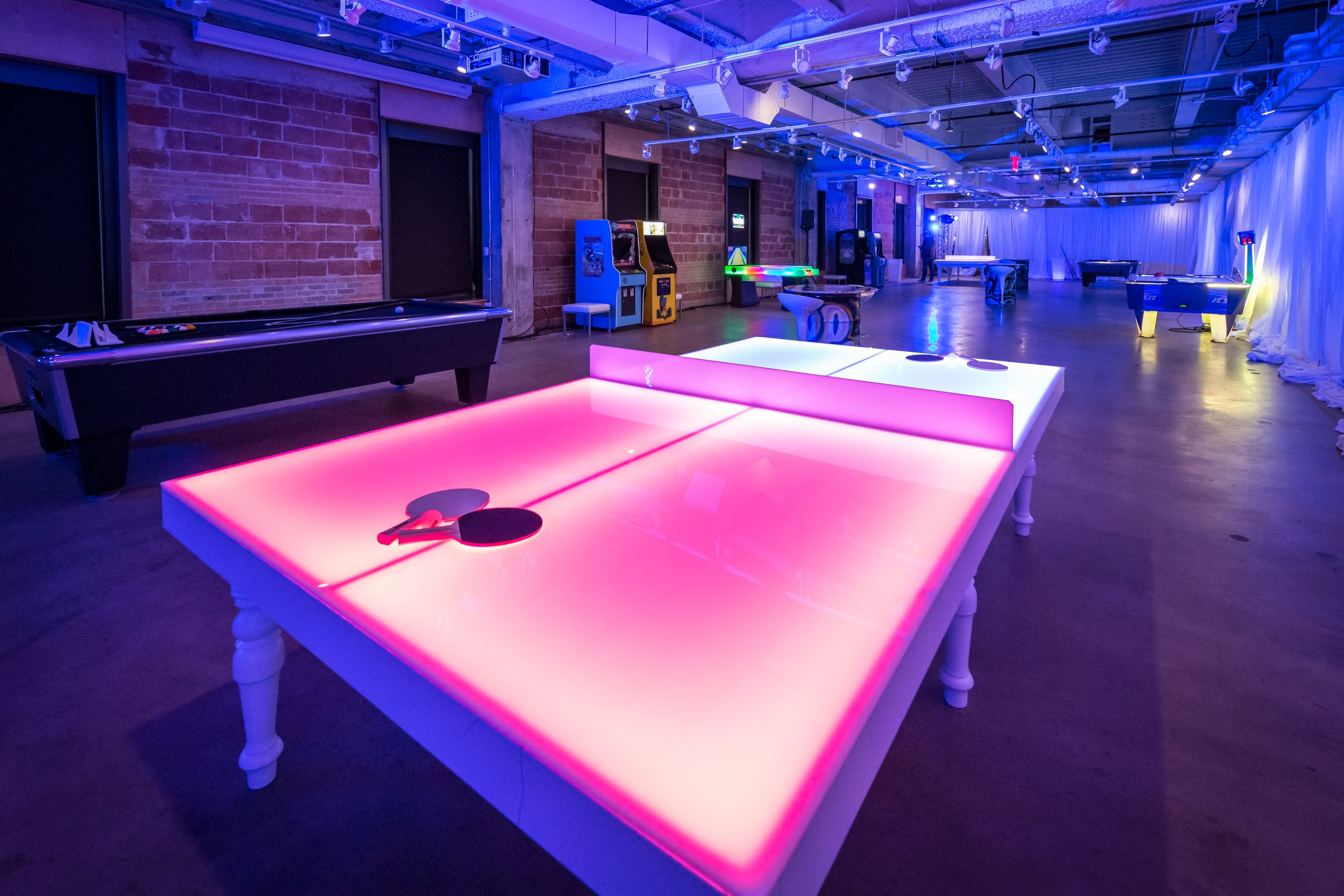 Led Ping Pong Table Game Room Tables Game Room Lighting Ping Pong