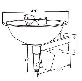 Eyewash Size Eye Wash Station Stainless Steel Material