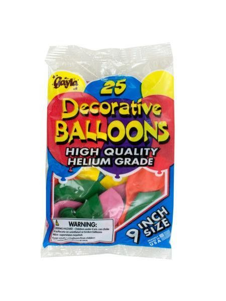 Helium Grade Latex Balloons (Available in a pack of 36)
