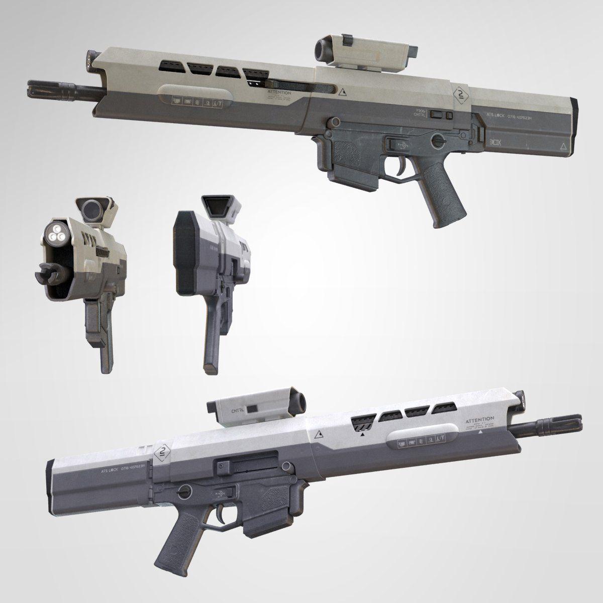 Royalty free Oblivion Rifle 3D Model by korazen  Available