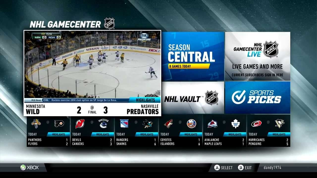Xbox NHL App Sports graphics, Nhl season, Broadcast