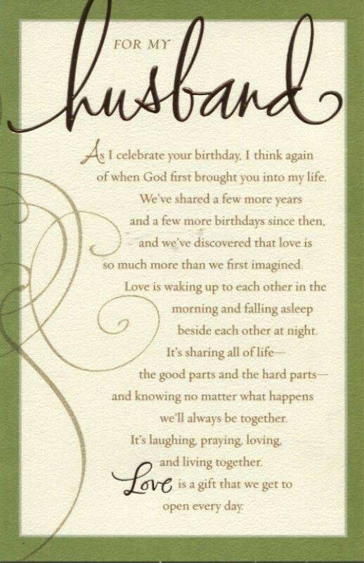 For My Husband Husband Birthday Card Birthday Wish For Husband
