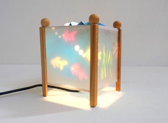 Childrens Underwater Rice Paper Wood Rotating Night By Archivo Night Light Projector Rice Paper Paper Lamp