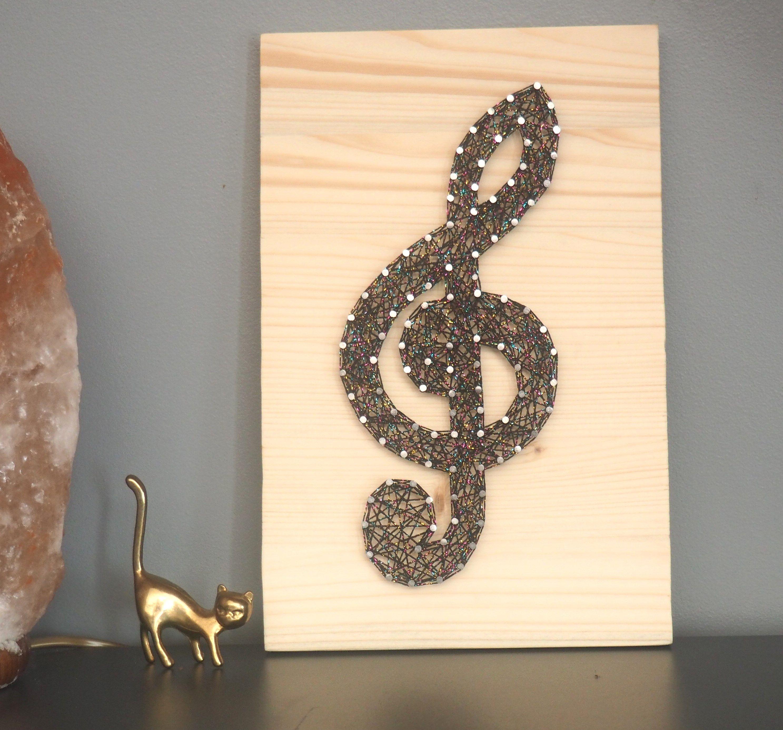 Clef De Sol Disco En String Art Craft Ideas String Art